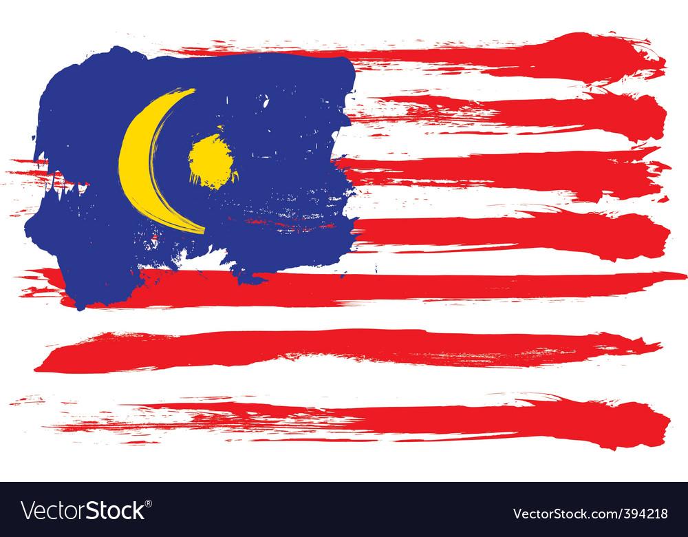 Malaysia grunge flag vector | Price: 1 Credit (USD $1)