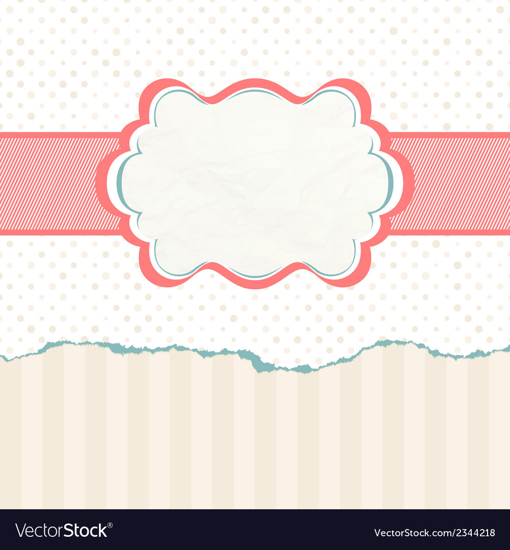 Vintage polka dot card eps 8 vector | Price: 1 Credit (USD $1)