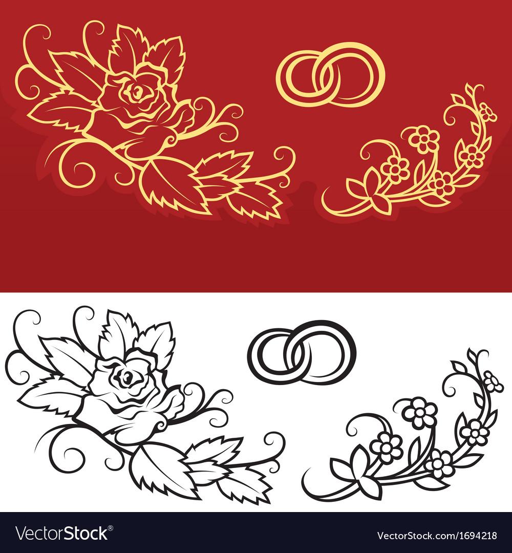 Wedding ornament vector | Price: 1 Credit (USD $1)