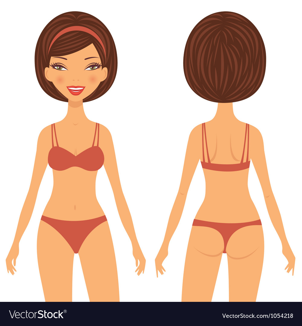 Woman front and back vector | Price: 3 Credit (USD $3)