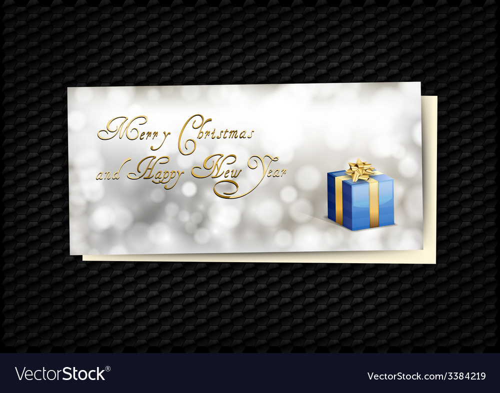 Blue gift card vector | Price: 1 Credit (USD $1)