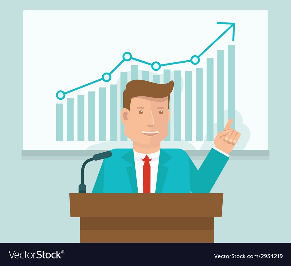 Business conference concept in flat style vector | Price: 1 Credit (USD $1)