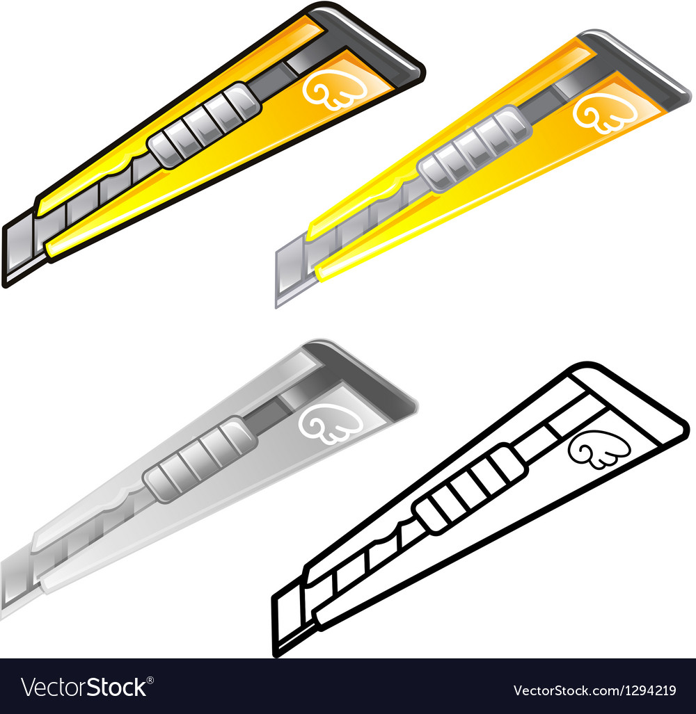 Diverse styles of knife sets vector | Price: 1 Credit (USD $1)