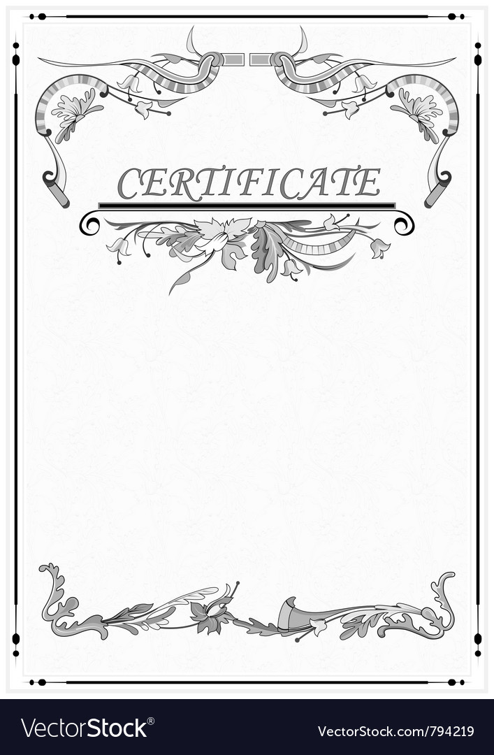 Floral patterns the certificate vector | Price: 1 Credit (USD $1)