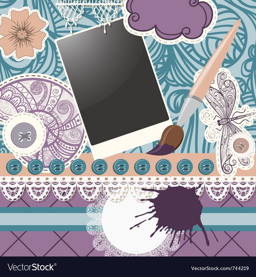Scrapbook design patterns vector | Price: 1 Credit (USD $1)