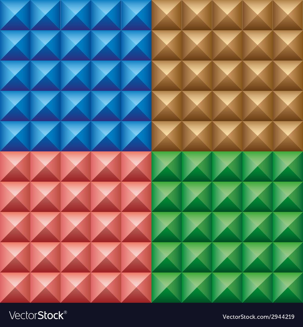 Set of convex pyramids vector | Price: 1 Credit (USD $1)