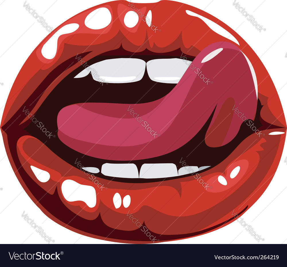 Sexy red lips vector | Price: 1 Credit (USD $1)