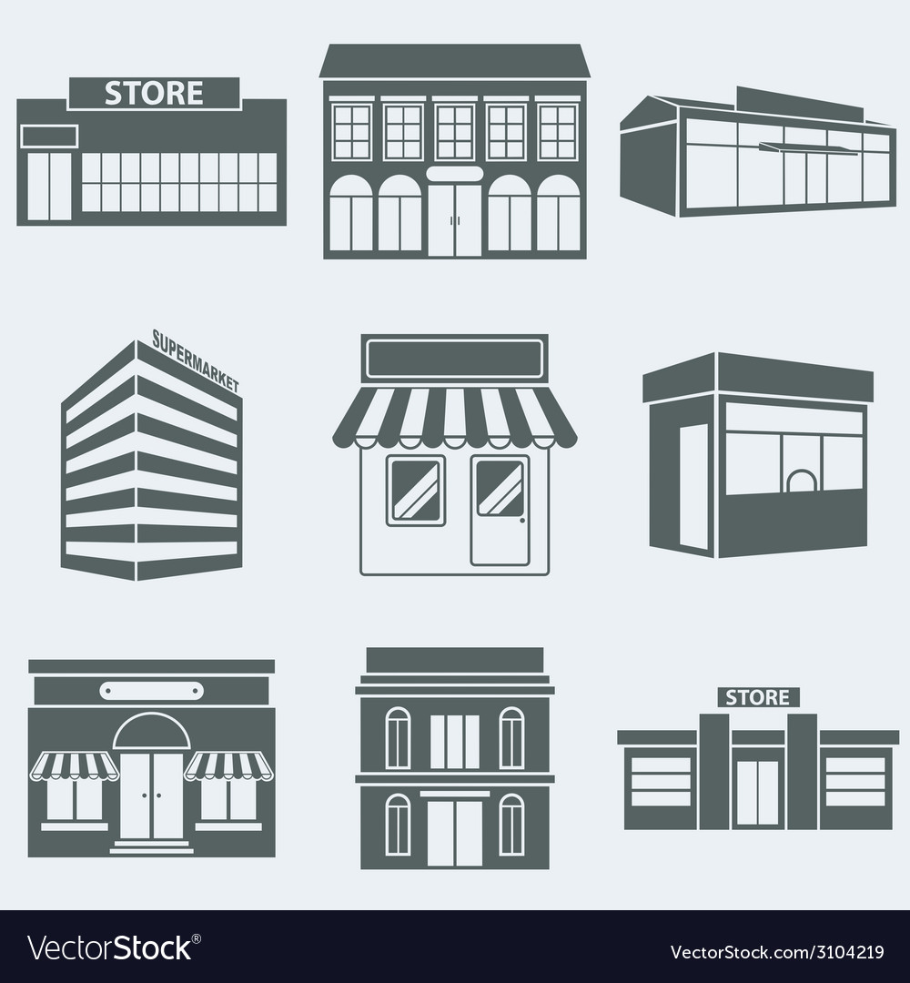 Shops vector | Price: 1 Credit (USD $1)
