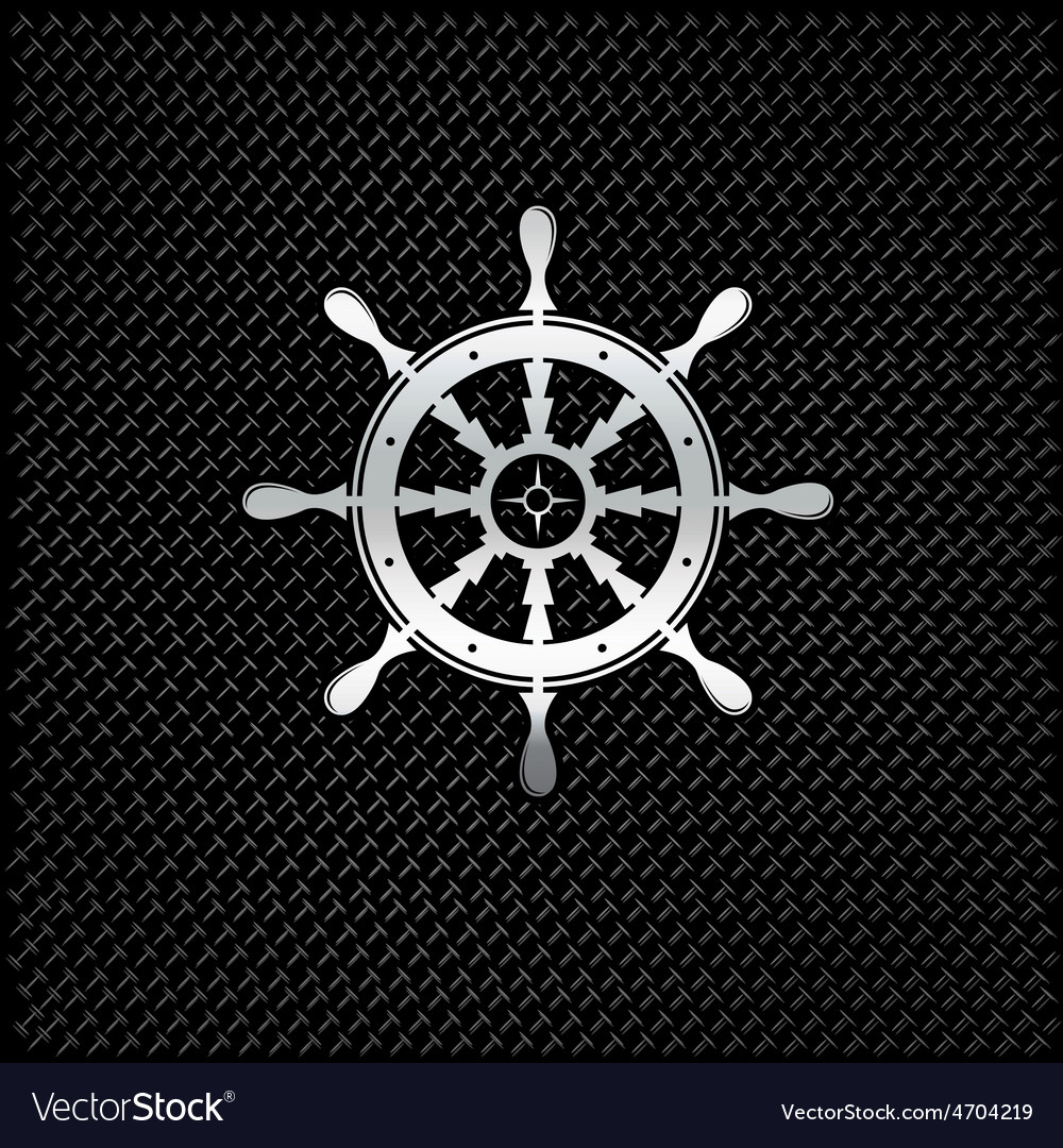 Silver wheel on metal background vector | Price: 1 Credit (USD $1)
