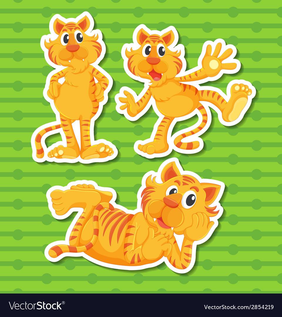 Tigers vector | Price: 1 Credit (USD $1)
