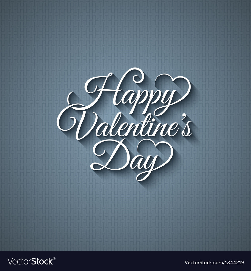 Valentines day vintage lettering background vector | Price: 1 Credit (USD $1)