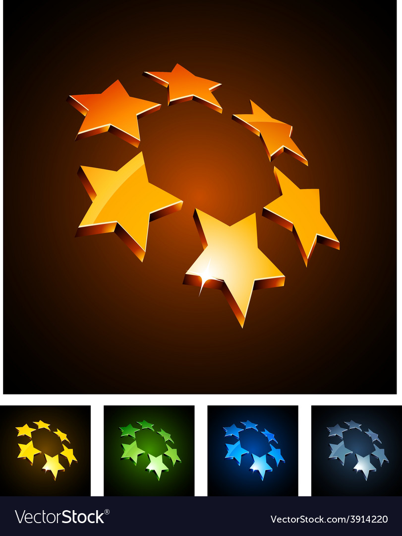 3d vibrant constellation emblems vector | Price: 1 Credit (USD $1)