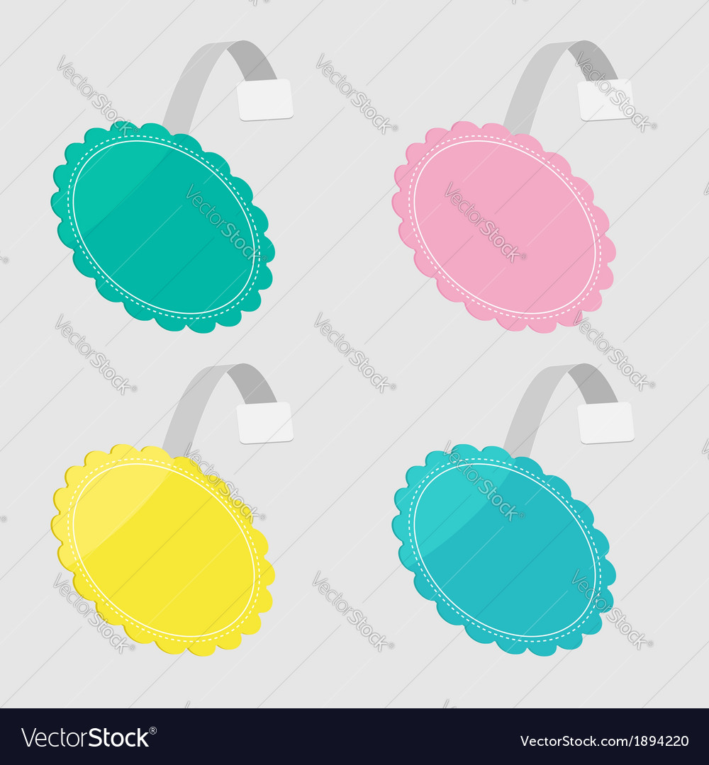 Bbler set in shape of round flower empty template vector | Price: 1 Credit (USD $1)