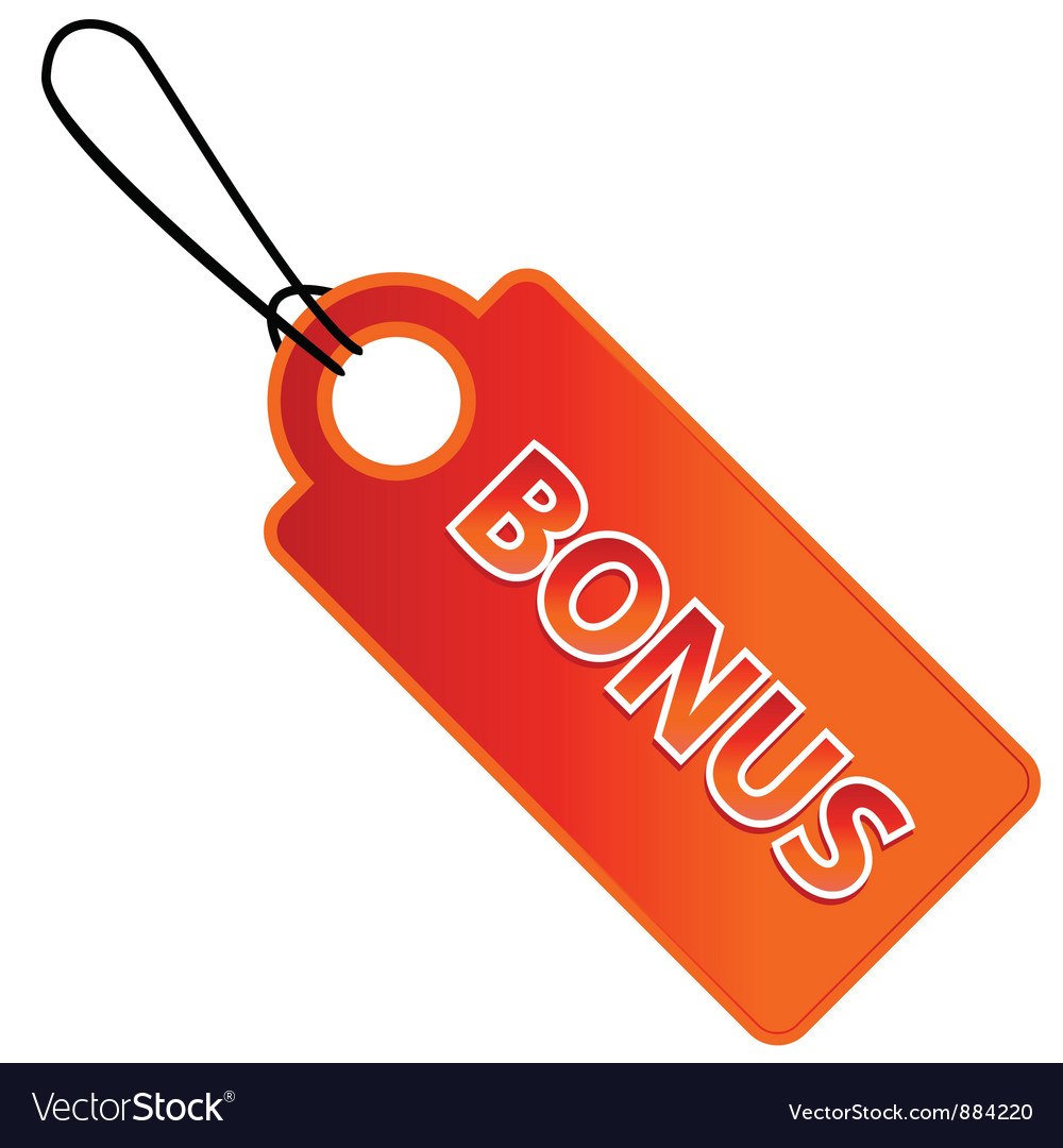 Bonus tag with price list vector | Price: 1 Credit (USD $1)