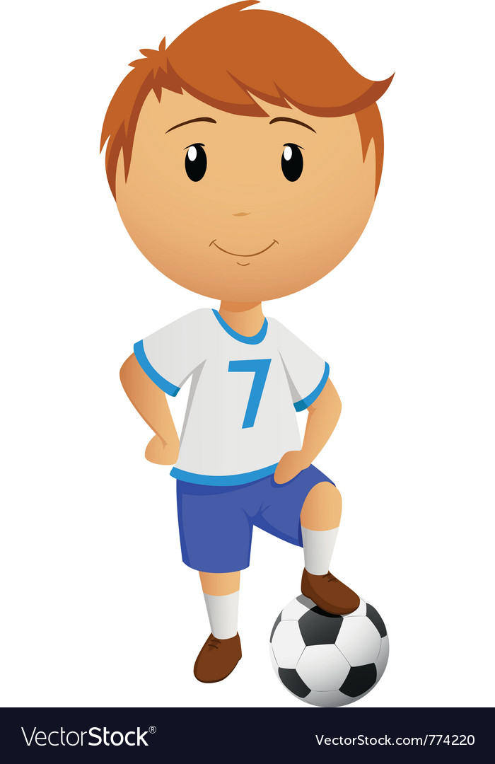 Cartoon footballer vector | Price: 3 Credit (USD $3)