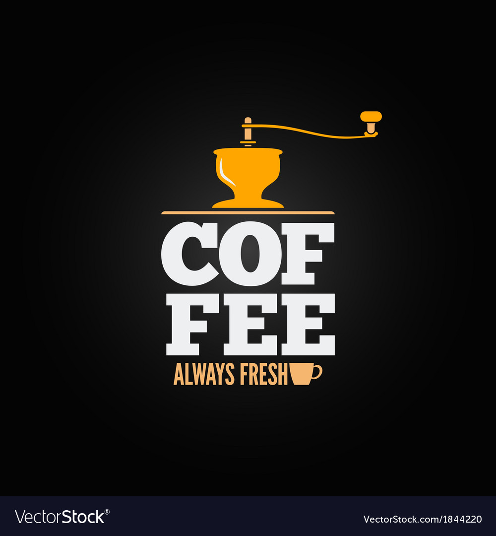 Coffee mill grinder cup menu design background vector | Price: 1 Credit (USD $1)