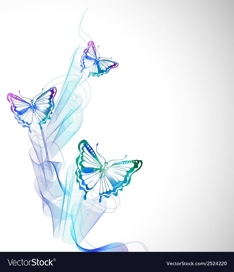Colorful background with watercolor butterfly and vector | Price: 1 Credit (USD $1)