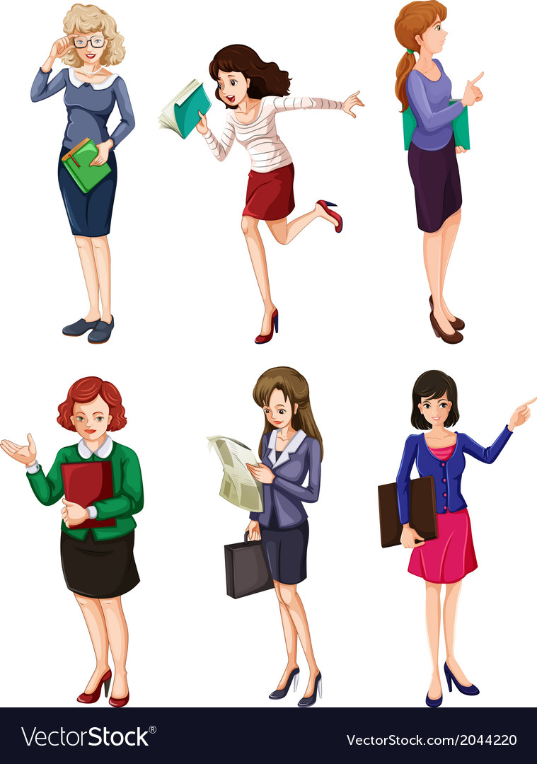 Different businesswomen vector | Price: 3 Credit (USD $3)