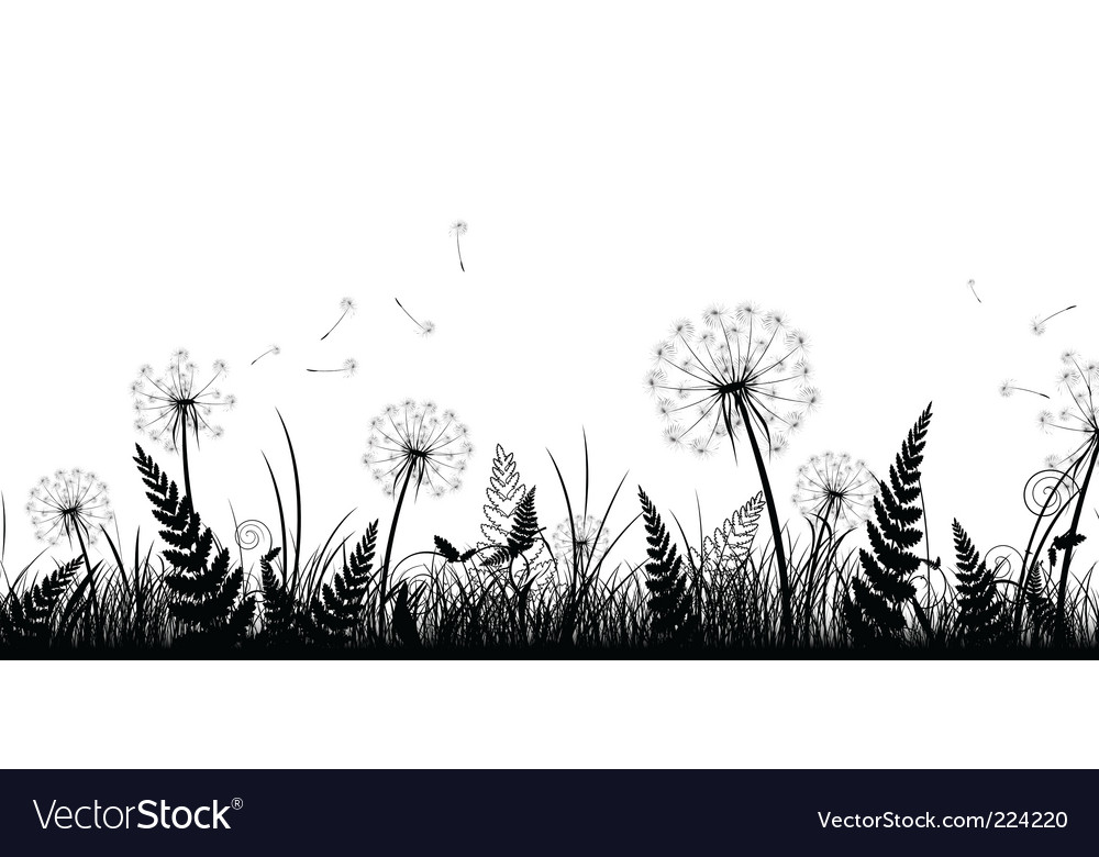 Field in black and white vector | Price: 1 Credit (USD $1)