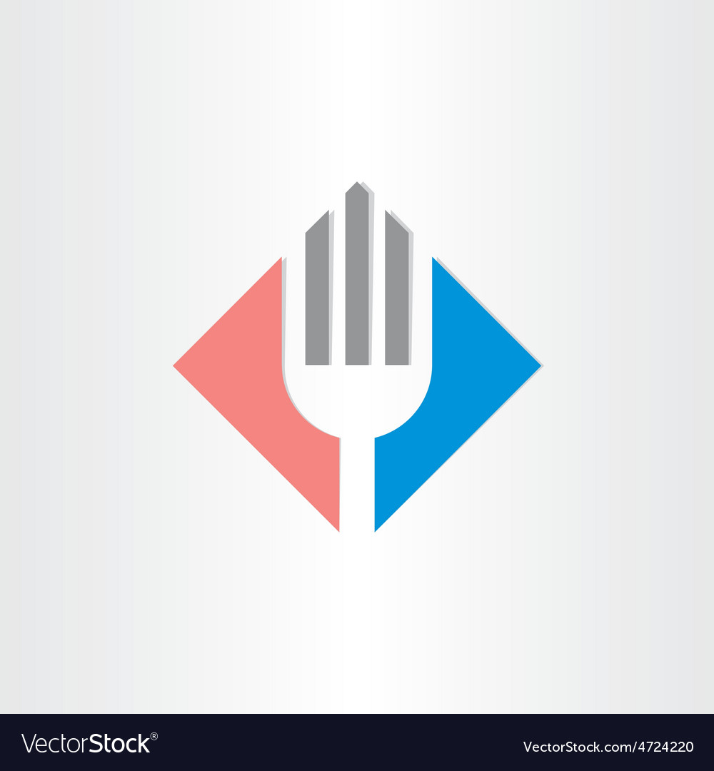 Fork icon restorant catering symbol vector | Price: 1 Credit (USD $1)