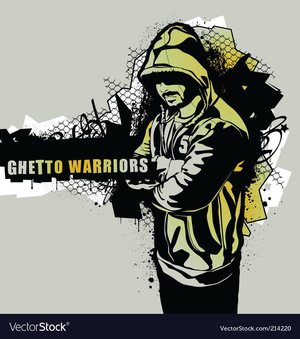 Ghetto warriors vector | Price: 1 Credit (USD $1)