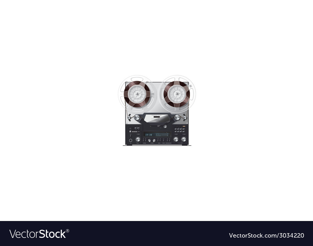 Old retro recorder with display vector | Price: 1 Credit (USD $1)