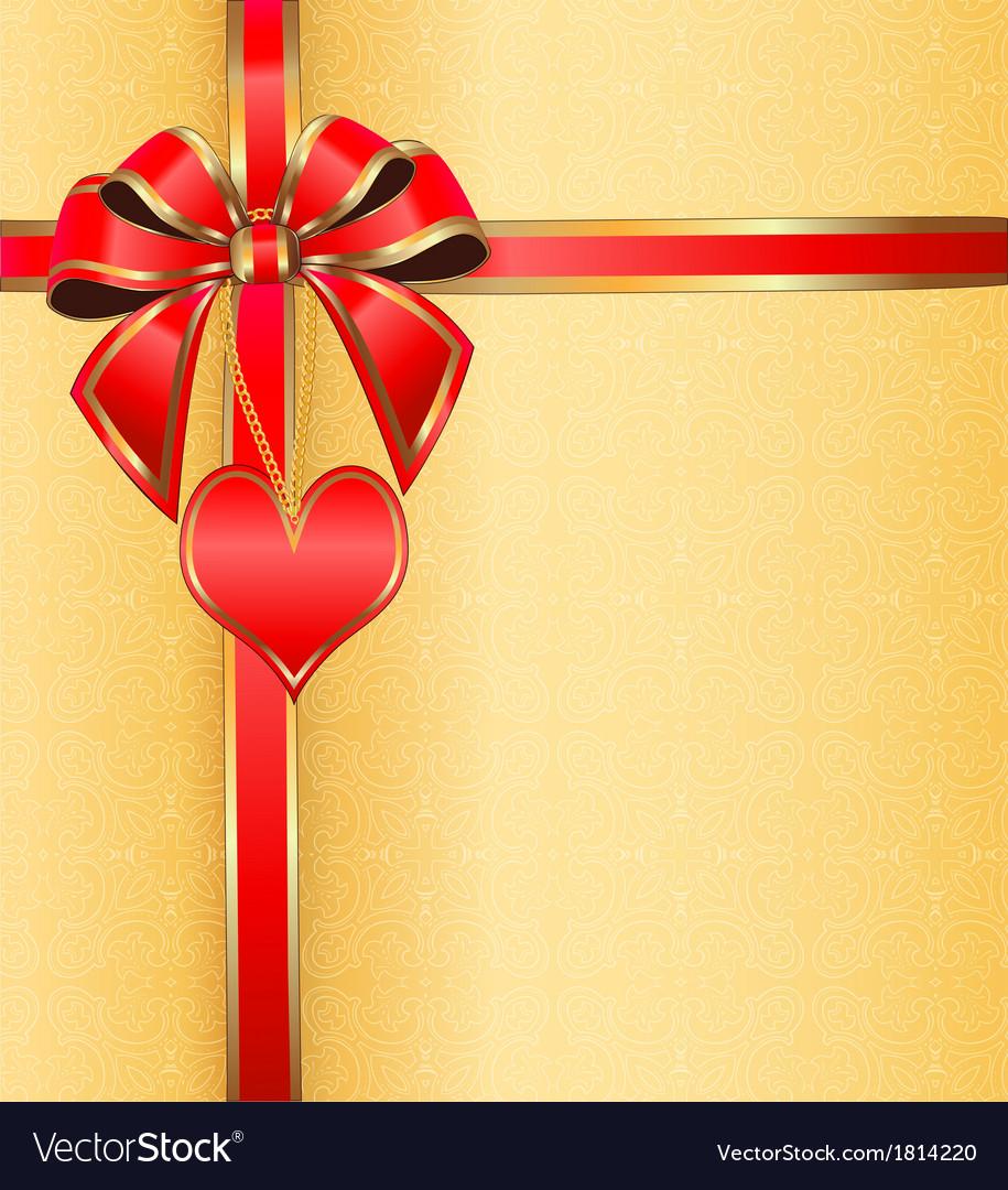 Postcard on valentines day vector | Price: 1 Credit (USD $1)