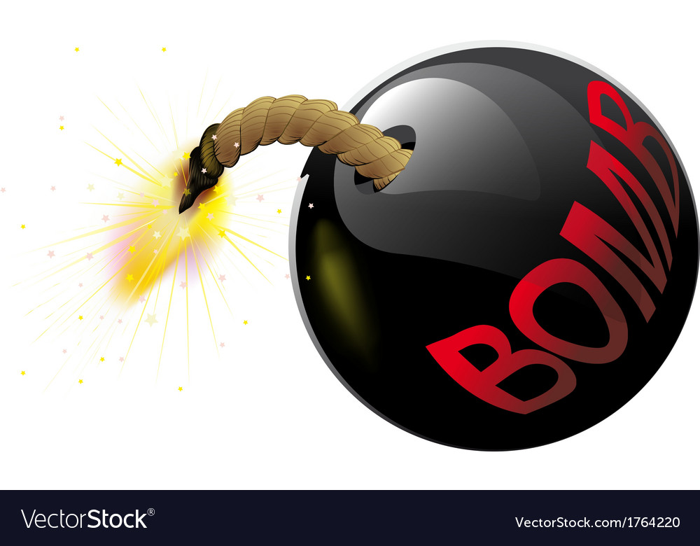 Round bomb with a burning wick vector | Price: 1 Credit (USD $1)