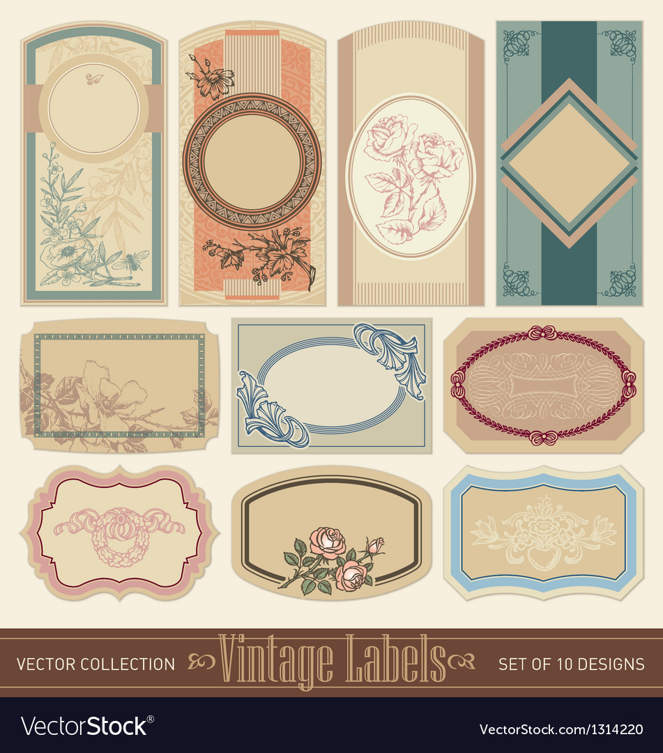 Vintage labels set vector | Price: 3 Credit (USD $3)