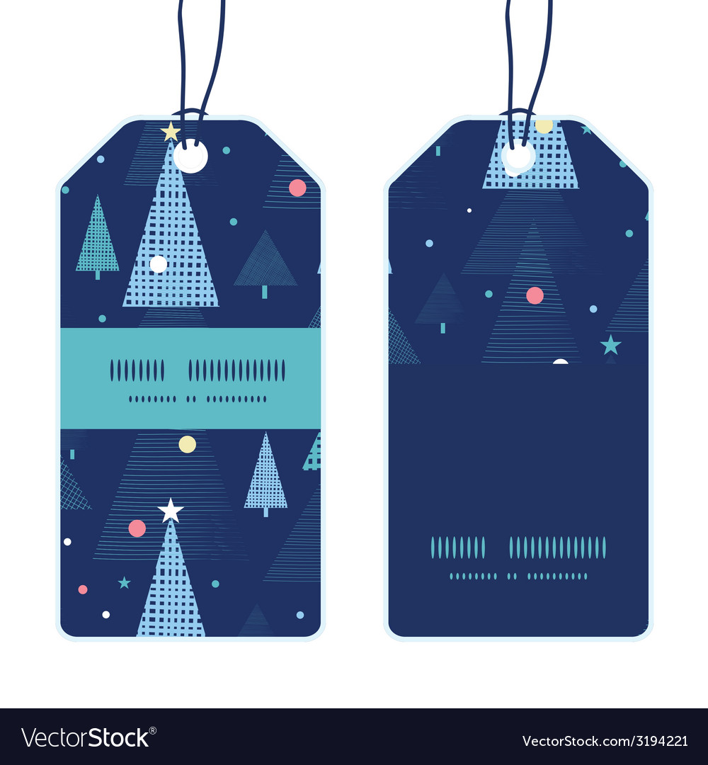 Abstract holiday christmas trees vertical stripe vector | Price: 1 Credit (USD $1)