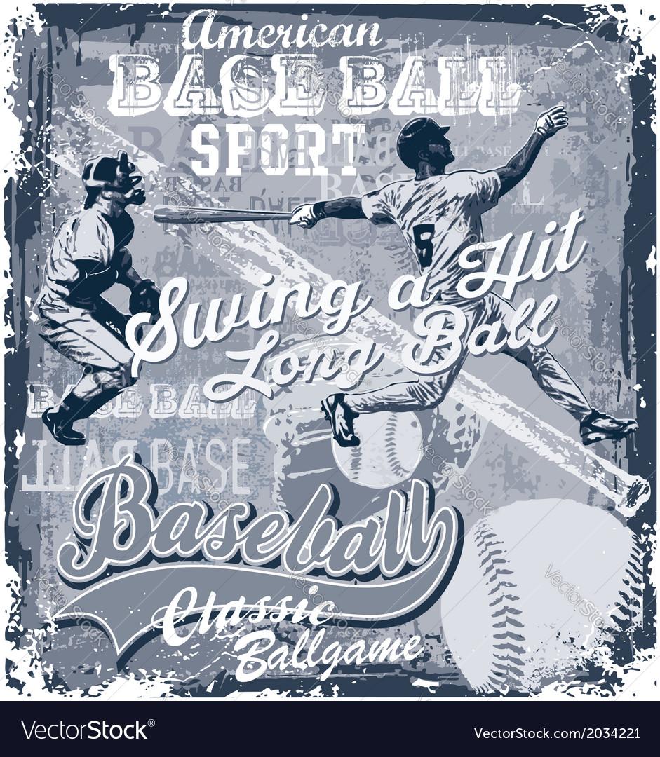 Baseball longball hit vector | Price: 1 Credit (USD $1)