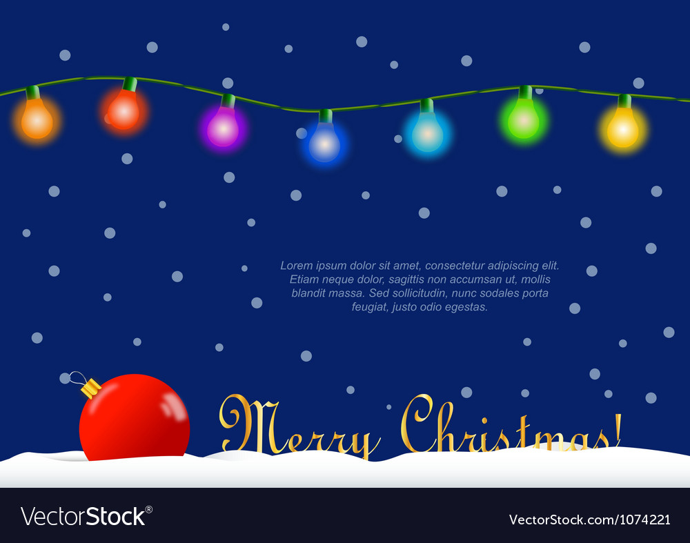 Christmas decoration card vector | Price: 1 Credit (USD $1)