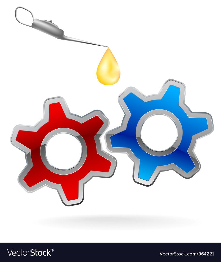 Gear cog oil logo vector | Price: 1 Credit (USD $1)