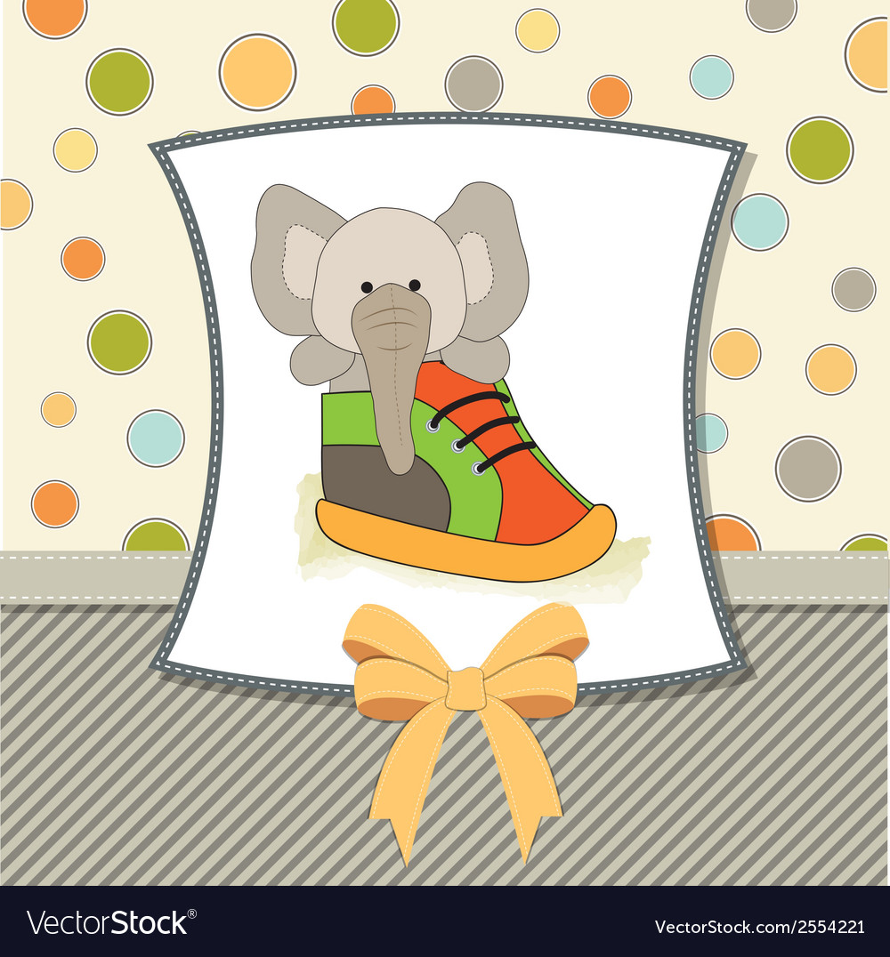 Happy birthday card with an elephant hidden in a vector | Price: 1 Credit (USD $1)