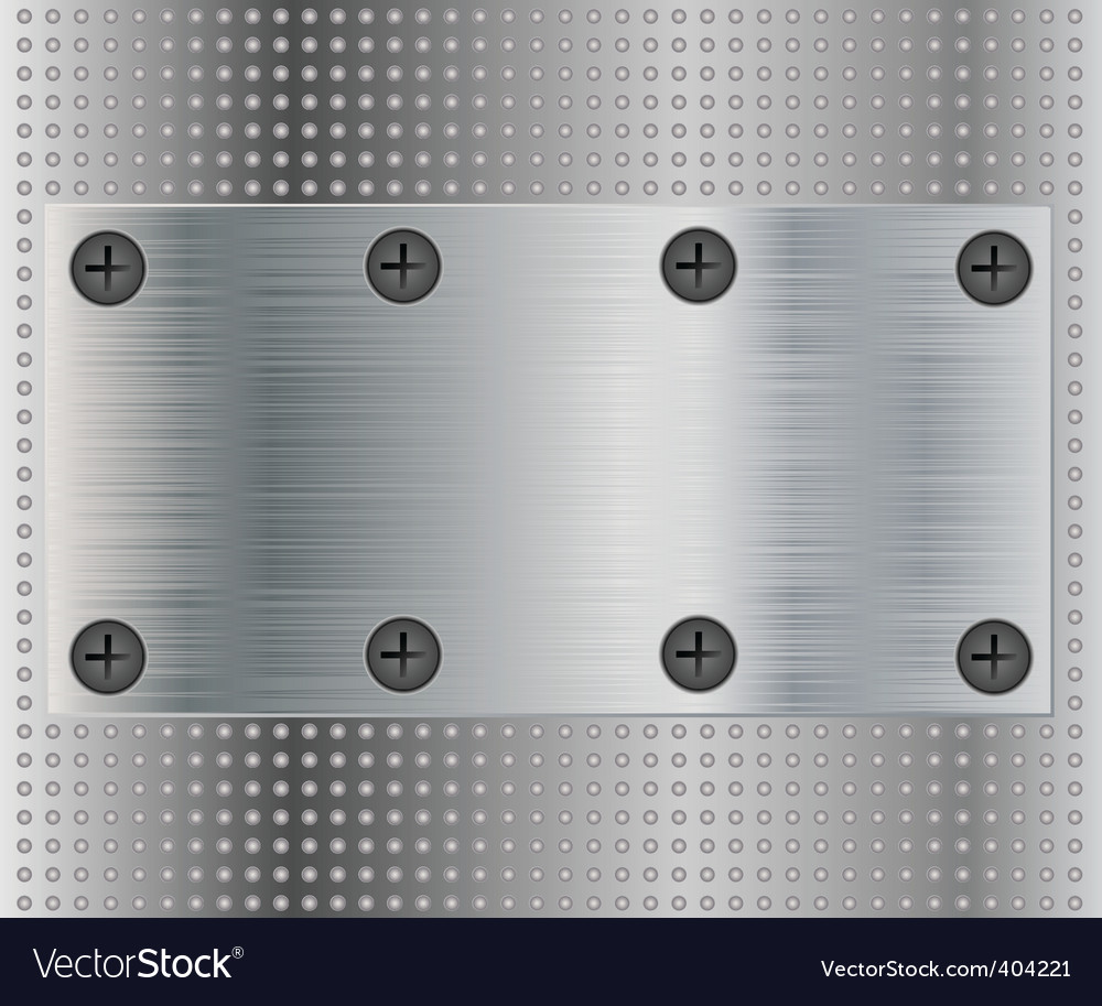 Metal plate vector | Price: 1 Credit (USD $1)