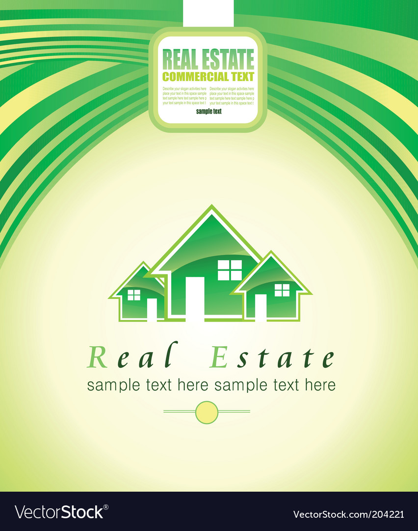 Real estate background vector | Price: 3 Credit (USD $3)