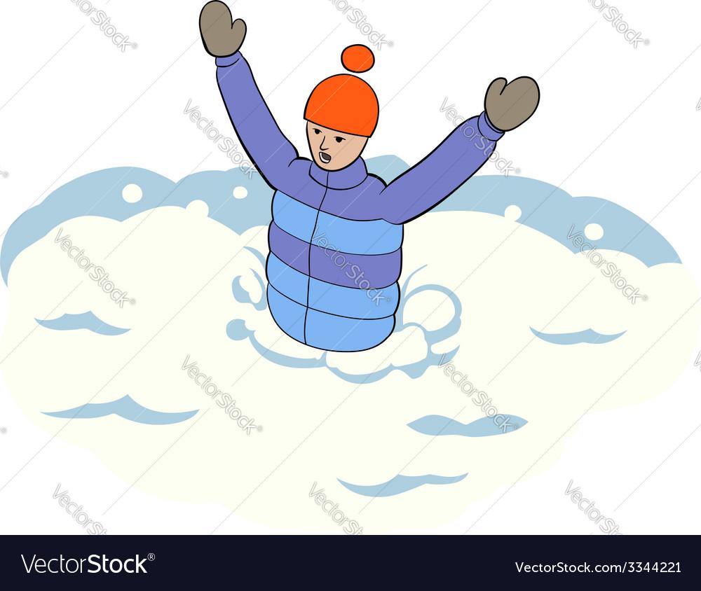 Stuck in snow vector | Price: 1 Credit (USD $1)
