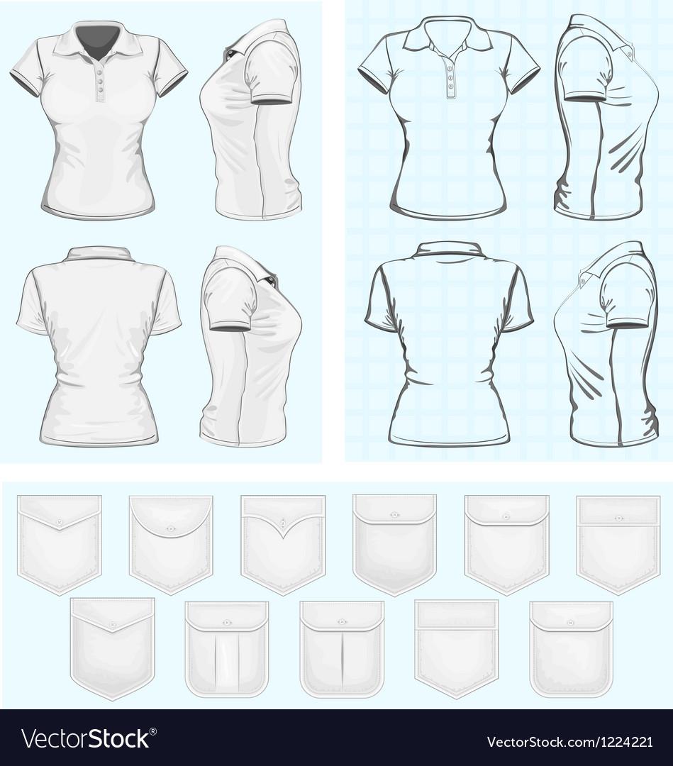 Womens polo-shirt design templates vector | Price: 3 Credit (USD $3)