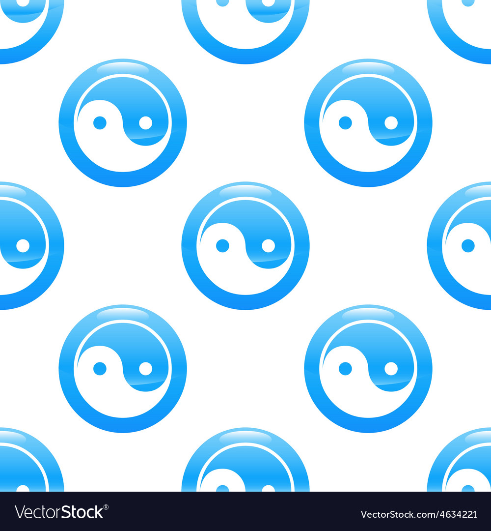 Yin and yang sign pattern vector | Price: 1 Credit (USD $1)