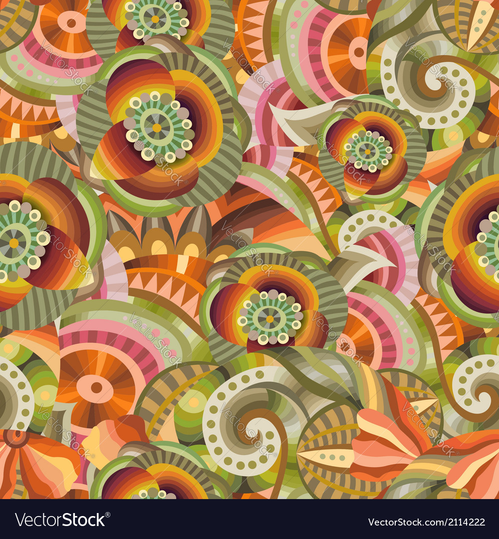 Beautiful decorative floral ornamental pattern vector | Price: 1 Credit (USD $1)