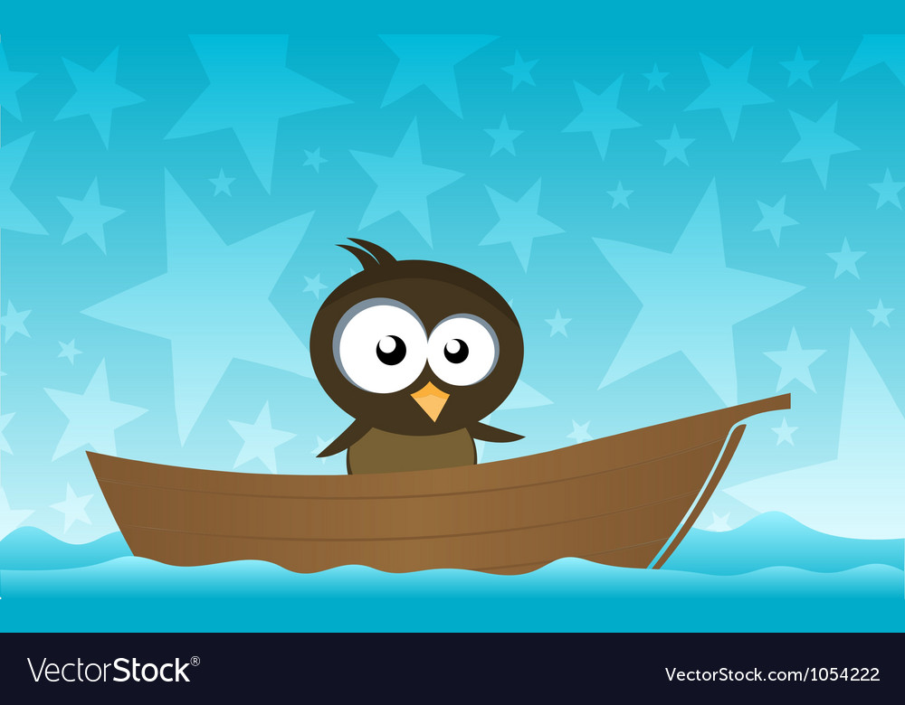 Bird on a boat vector | Price: 1 Credit (USD $1)