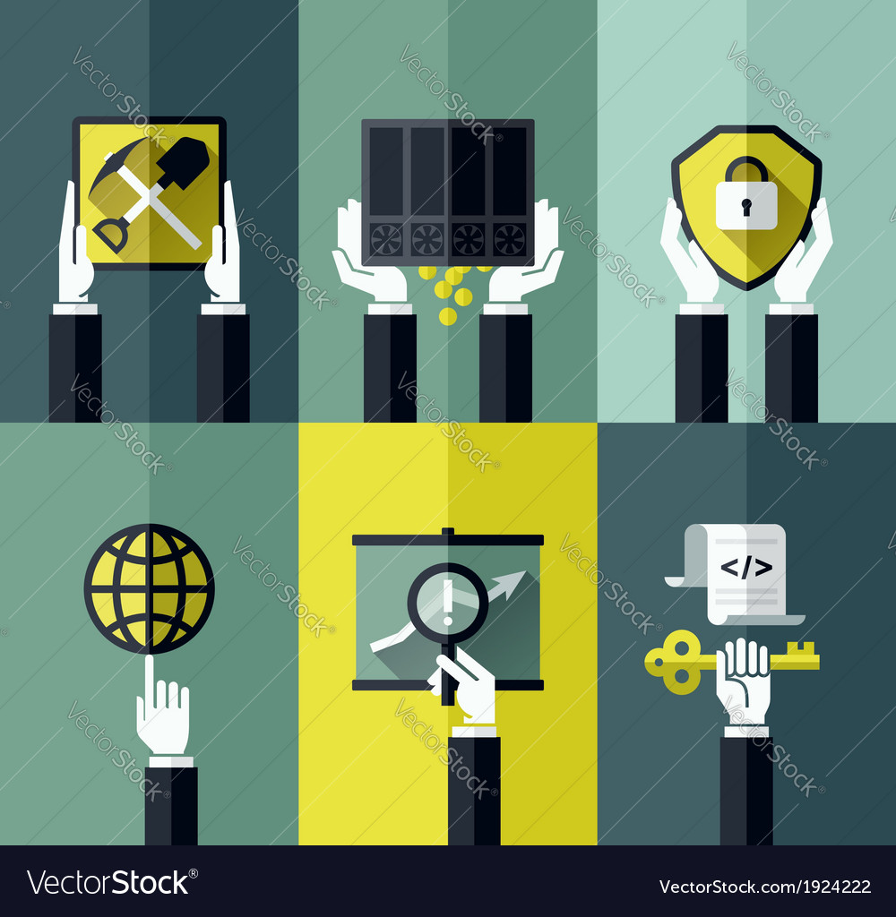 Digital currency modern flat design concept vector   Price: 1 Credit (USD $1)
