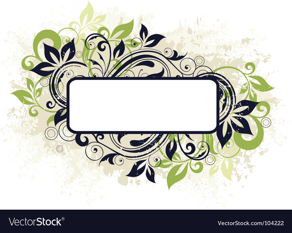 Floral frame banner vector | Price: 1 Credit (USD $1)