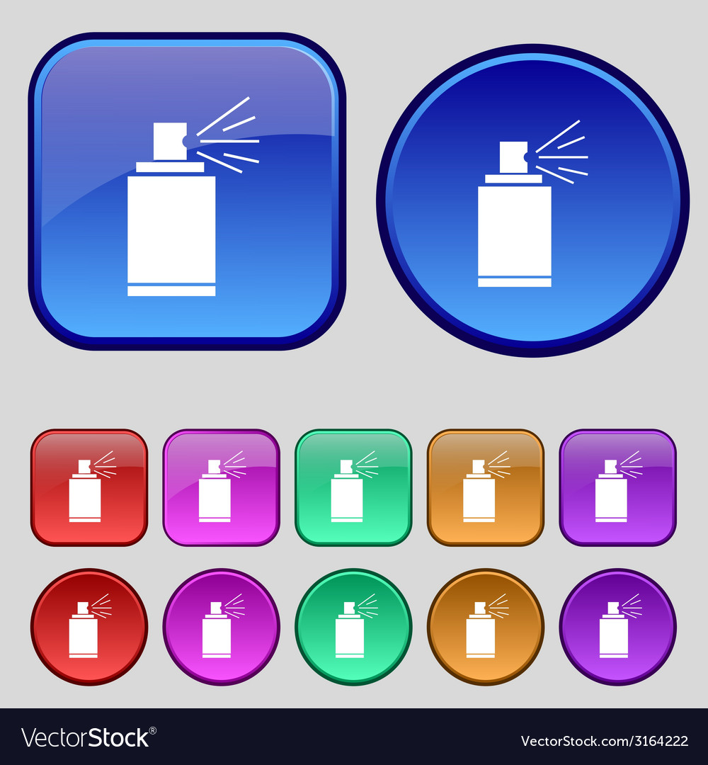 Graffiti spray can sign icon aerosol paint symbol vector | Price: 1 Credit (USD $1)