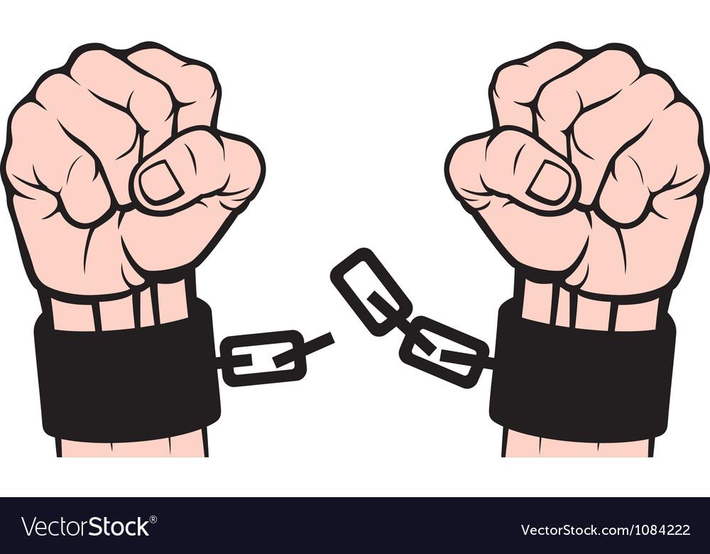 Hand broken chains vector | Price: 1 Credit (USD $1)
