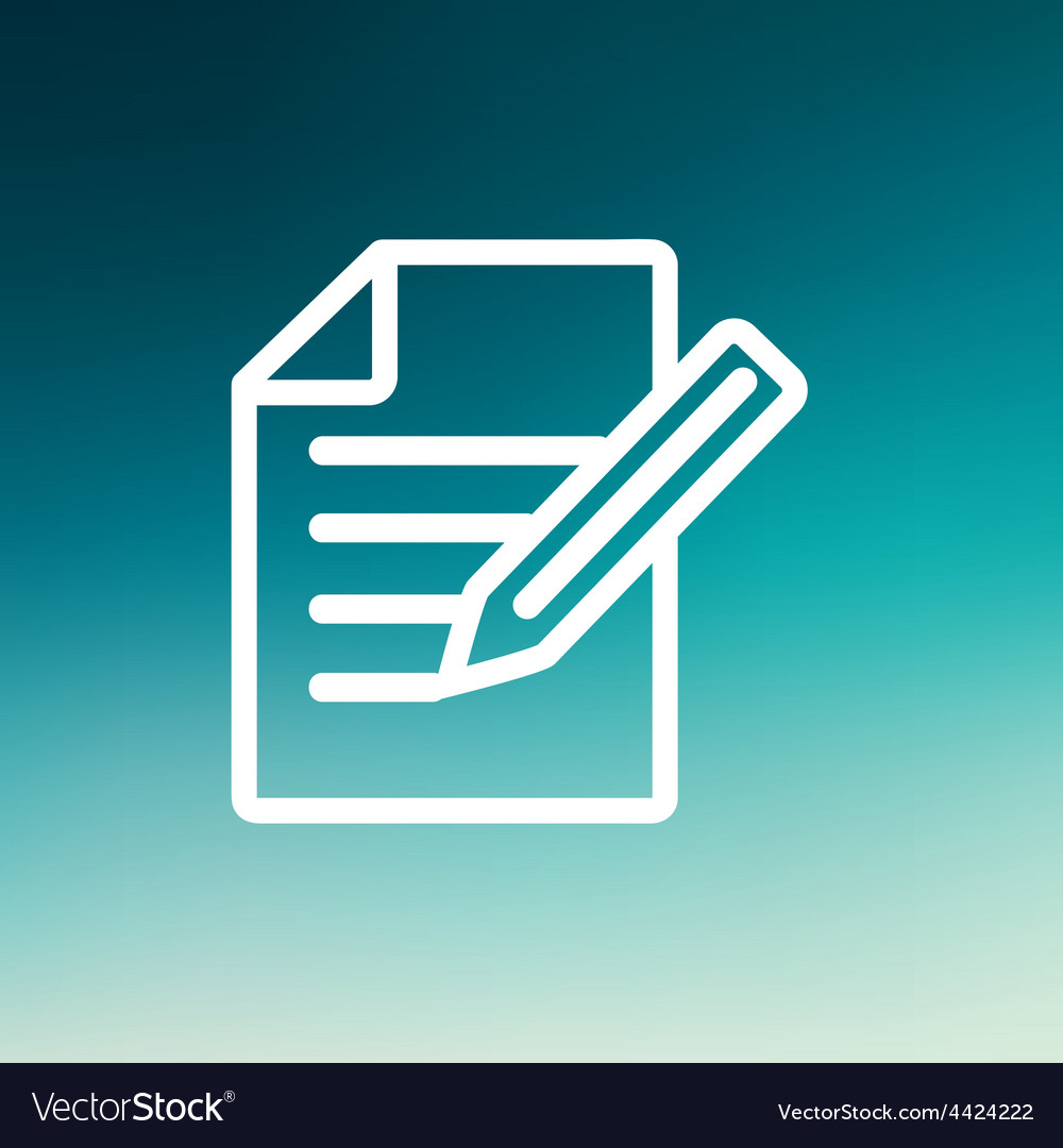 Taking notes thin line icon vector | Price: 1 Credit (USD $1)
