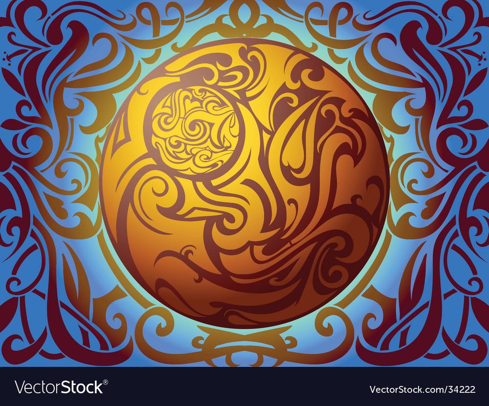 Tribal sphere vector