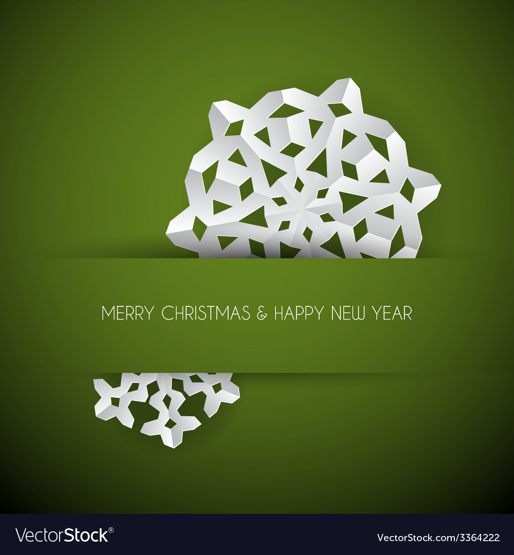 White paper christmas snowflake vector | Price: 1 Credit (USD $1)
