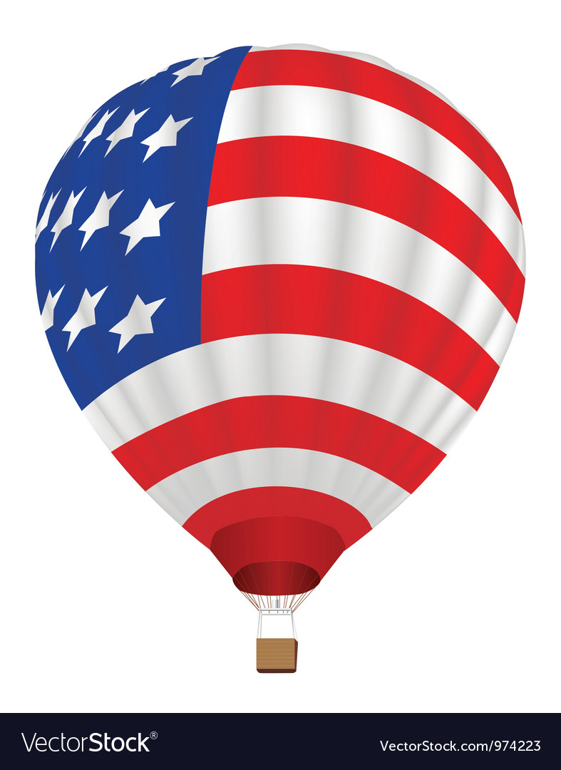 Balloon with united states flag vector | Price: 1 Credit (USD $1)