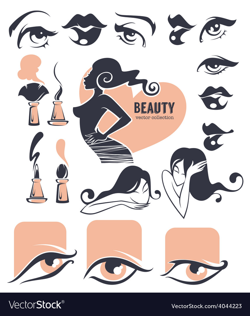 Beauty collection vector | Price: 1 Credit (USD $1)